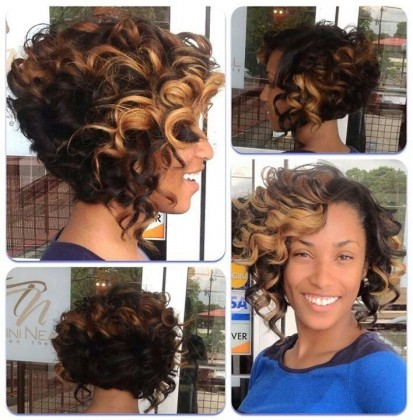 Spiral Ombre Hairstyle - Short and yet Spiral hairstyle