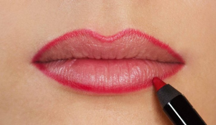 lining for attractive lips
