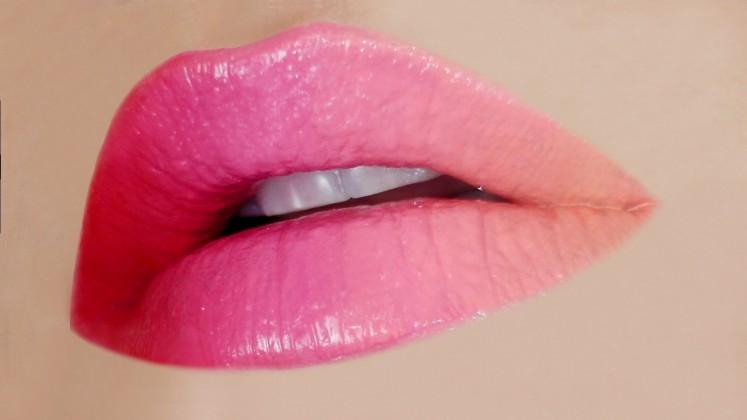 ombre attractive lips