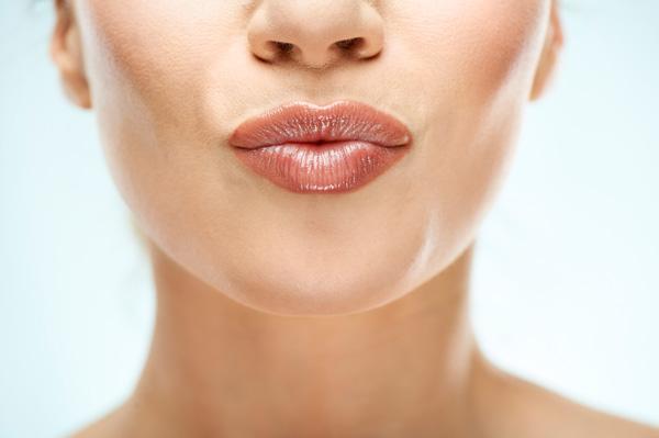 soft kissable attractive lips
