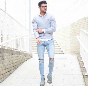 distress jeans